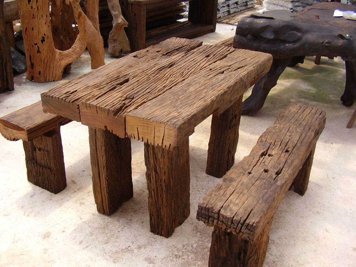 Wood art furniture at the galleria for Wooden furniture